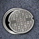 sewer cover open in street